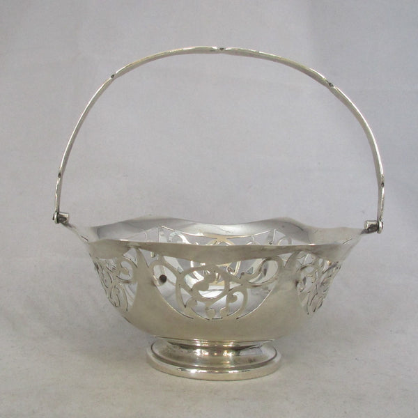 English Silver Bon Bon Dish Antique c.1914.
