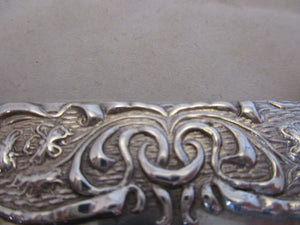 English Sterling Silver Card Case Antique Chester 1903.