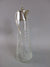 Antique Glass Claret Jug and Silver Plate Victorian c1880