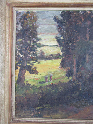 Framed Oil on Board Evening Light by Lady Gurney Dixon Vintage 1961
