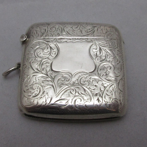 Sterling Silver Vesta Case Antique Edwardian 1909 English.