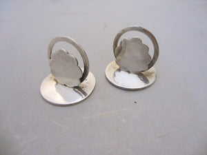Pair of Solid Sterling Silver Menu Holders Edwardian c.1905