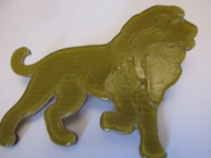 Lea Stein Celluloid Plastic Lion Brooch Pin Vintage French c1970.
