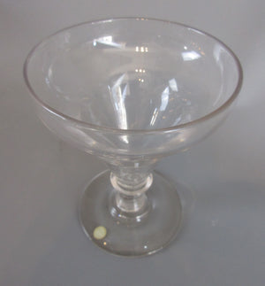 Glass Pan Top Rummer Antique Georgian Early 19th Century