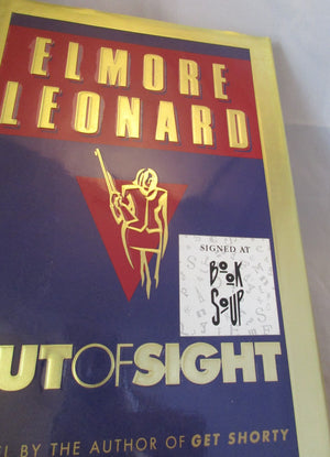 'Out of Sight' Novel by Elmore Leonard Signed 1st Edition Vintage c1996.