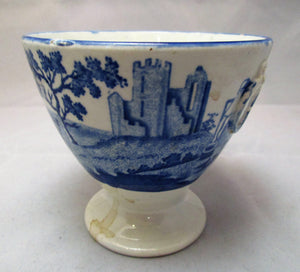 Small Blue & White Vase Urn Antique Early 19th Century
