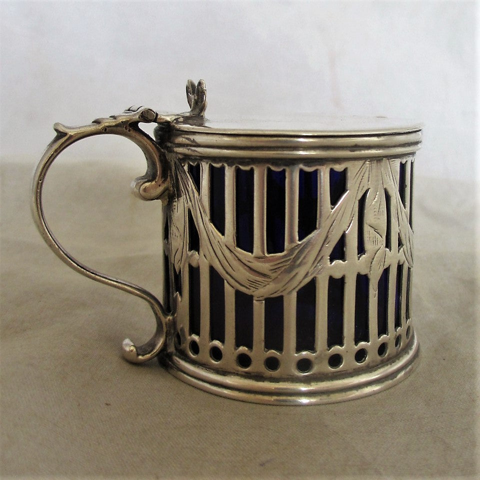 George III Silver Mustard Pot London Antique c.1787
