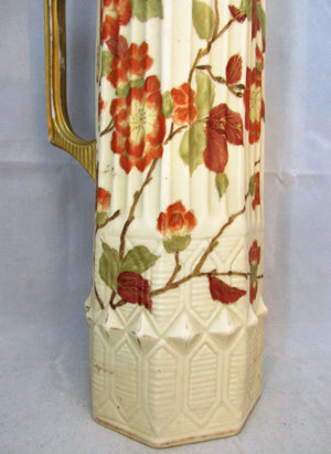 Royal Rudolstadt Pitcher Antique German c1900.