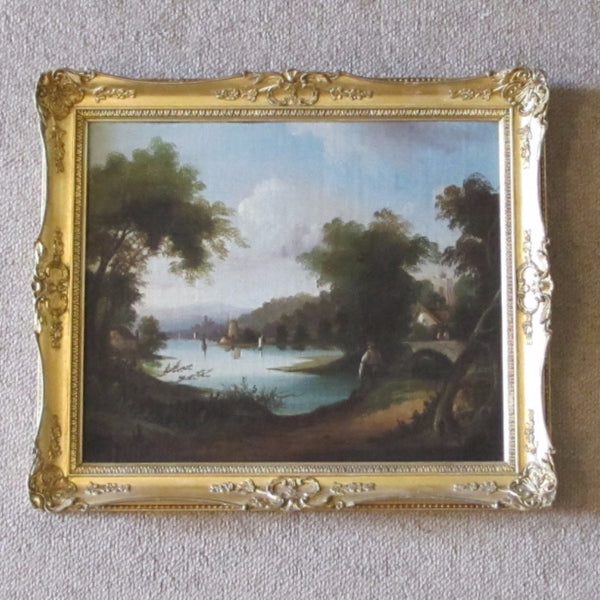 oil painting 19th century antique
