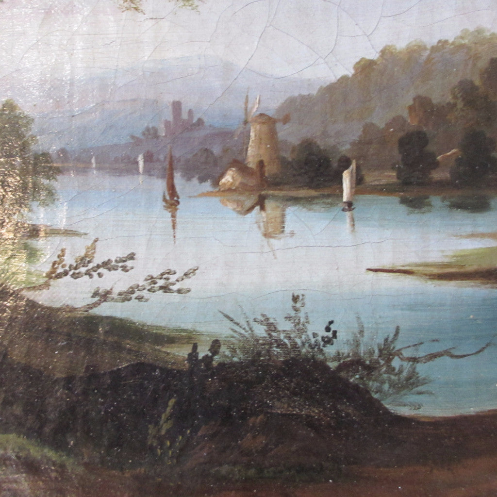 Oil painting Nineteenth century Circa 1850 Antique