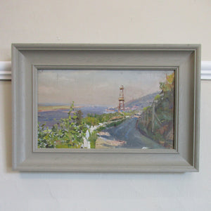 Oil on Board 'Le Havre' Vintage Painting.