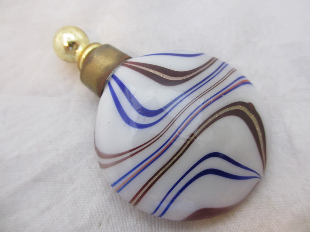 German Glass scent bottle vintage c.1950's.