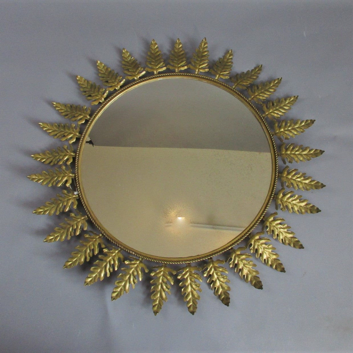Large Continental Sunburst Mirror Vintage c1960