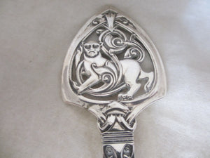 Norwegian 830 Silver Arts & Crafts Ladle Antique Edwardian c.1910.