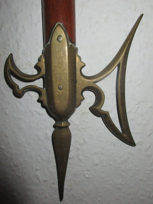 Novelty Wall Thermometer Antique Victorian c1890.