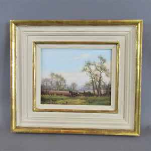 Oil on Board Harvest Time by James Wright Vintage