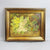 Oil on Canvas Bird Nest and Primroses Antique 19th Century