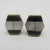 Pair of mother of pearl black onyx gilt metal cufflinks