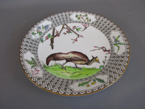 Royal Worcester Pheasant Plate Antique c1908