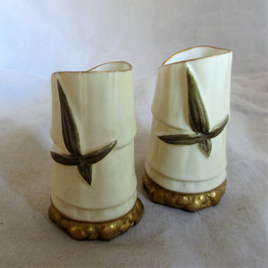 Pair Small Antique Royal Worcester Vases c.1905