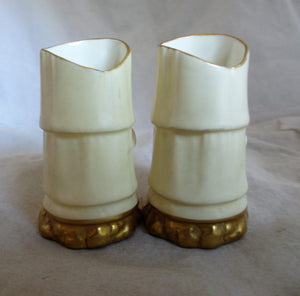 Pair Small Antique Royal Worcester Vases Edwardian c.1905