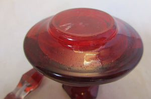Small Ruby Glass Scent Bottle Antique Victorian.