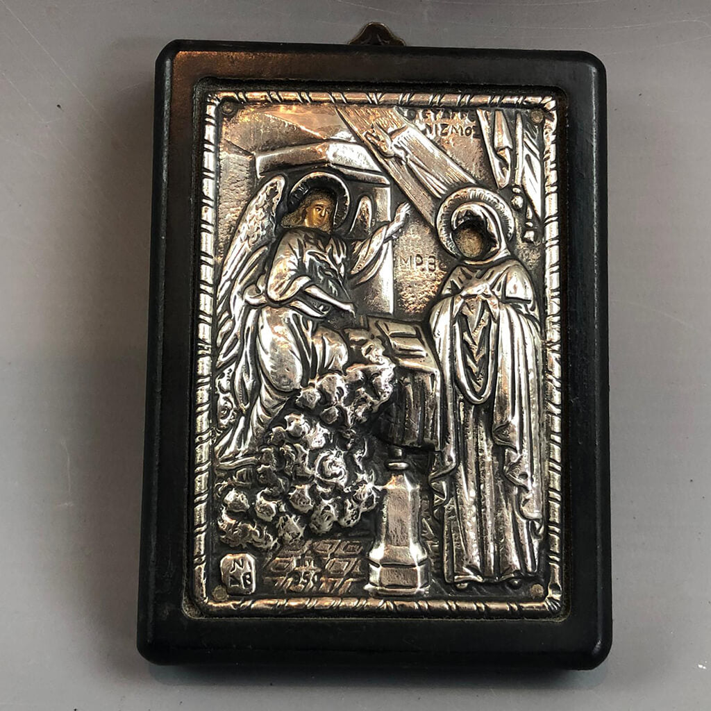 Silver 950 Greek Tradition Art Icon Replica Vintage