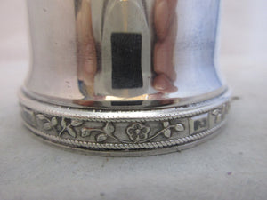 English Silver Plate Sugar Sifter Vintage Art Deco.