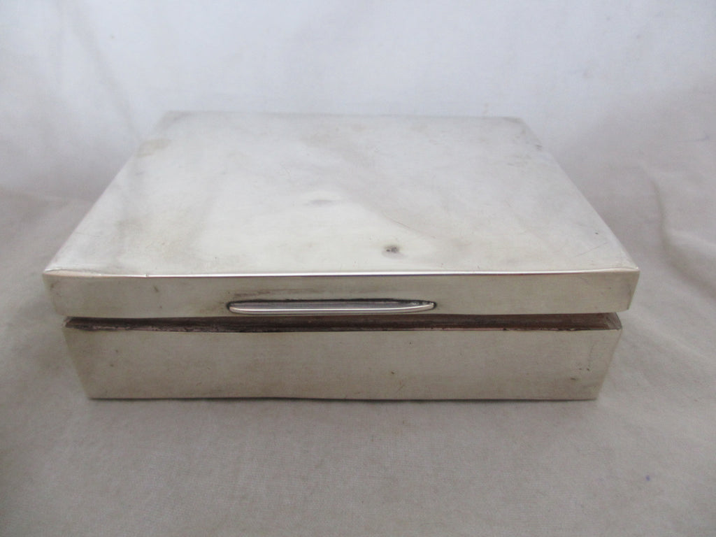 Sterling Silver Box Antique 20th Century Chester c1926.