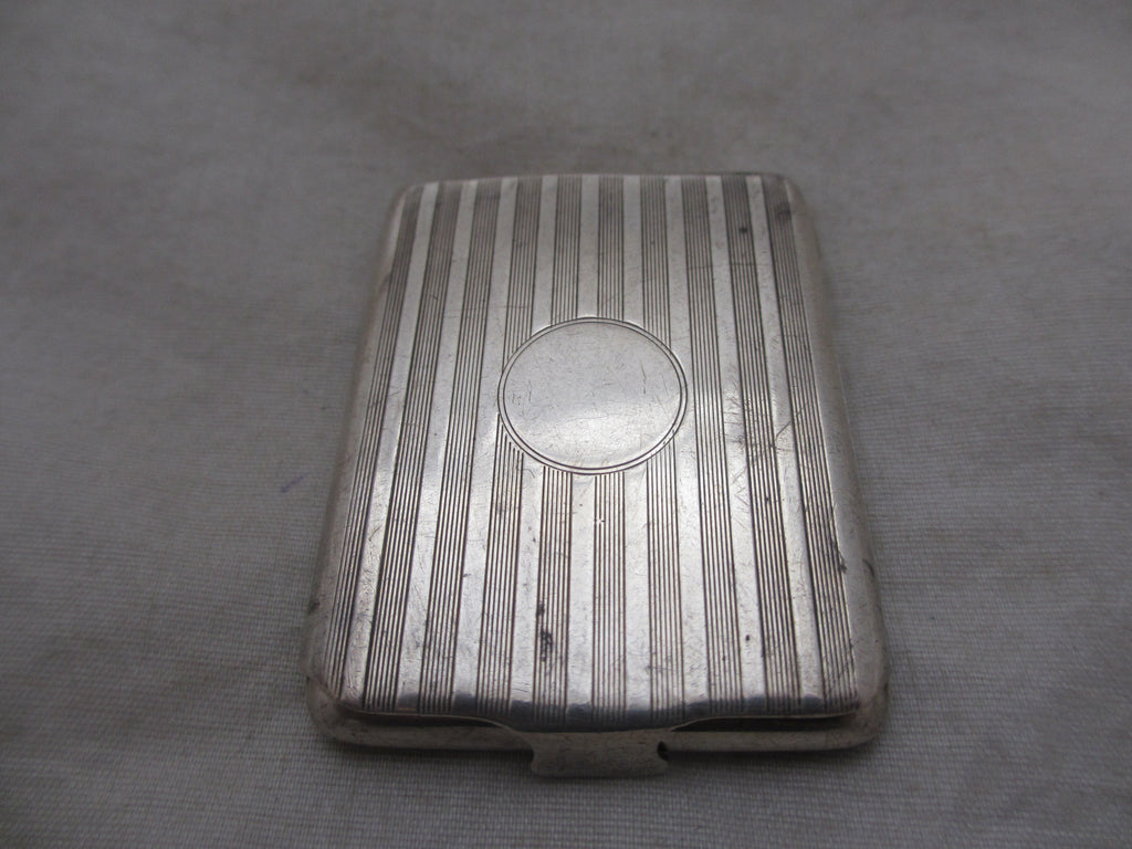 Sterling Silver Card Case Hallmarked Birmingham Art Deco C1930