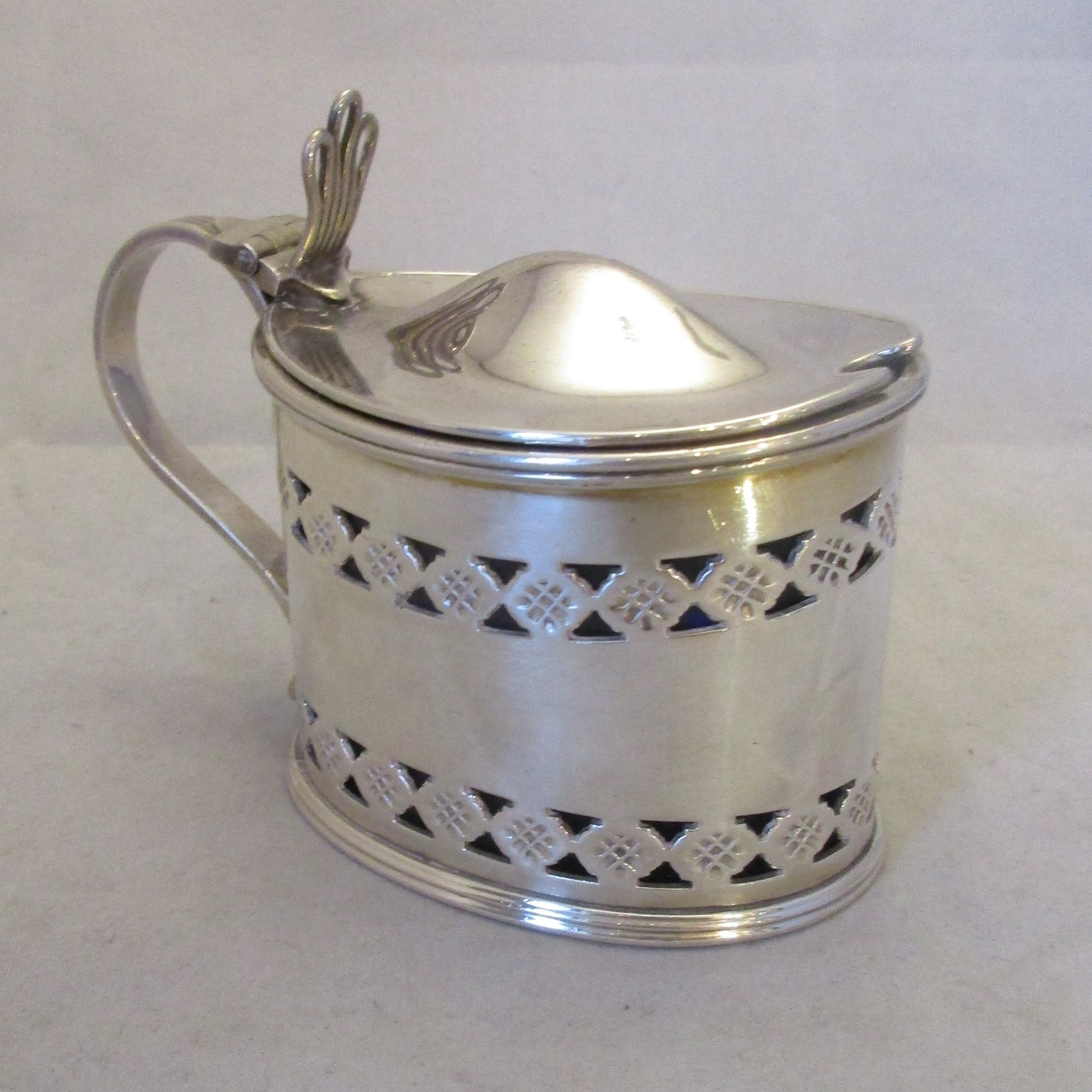 Silver Plated Jam Preserve Jar Antique c1900.