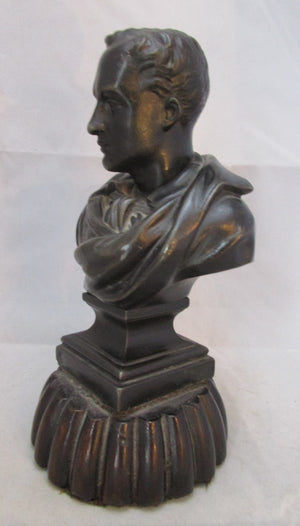 Small Spelter Bust of Byron Vintage.