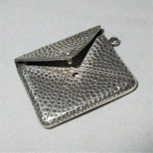 Small Sterling Silver Stamp Case Antique Edwardian Birmingham c1910.