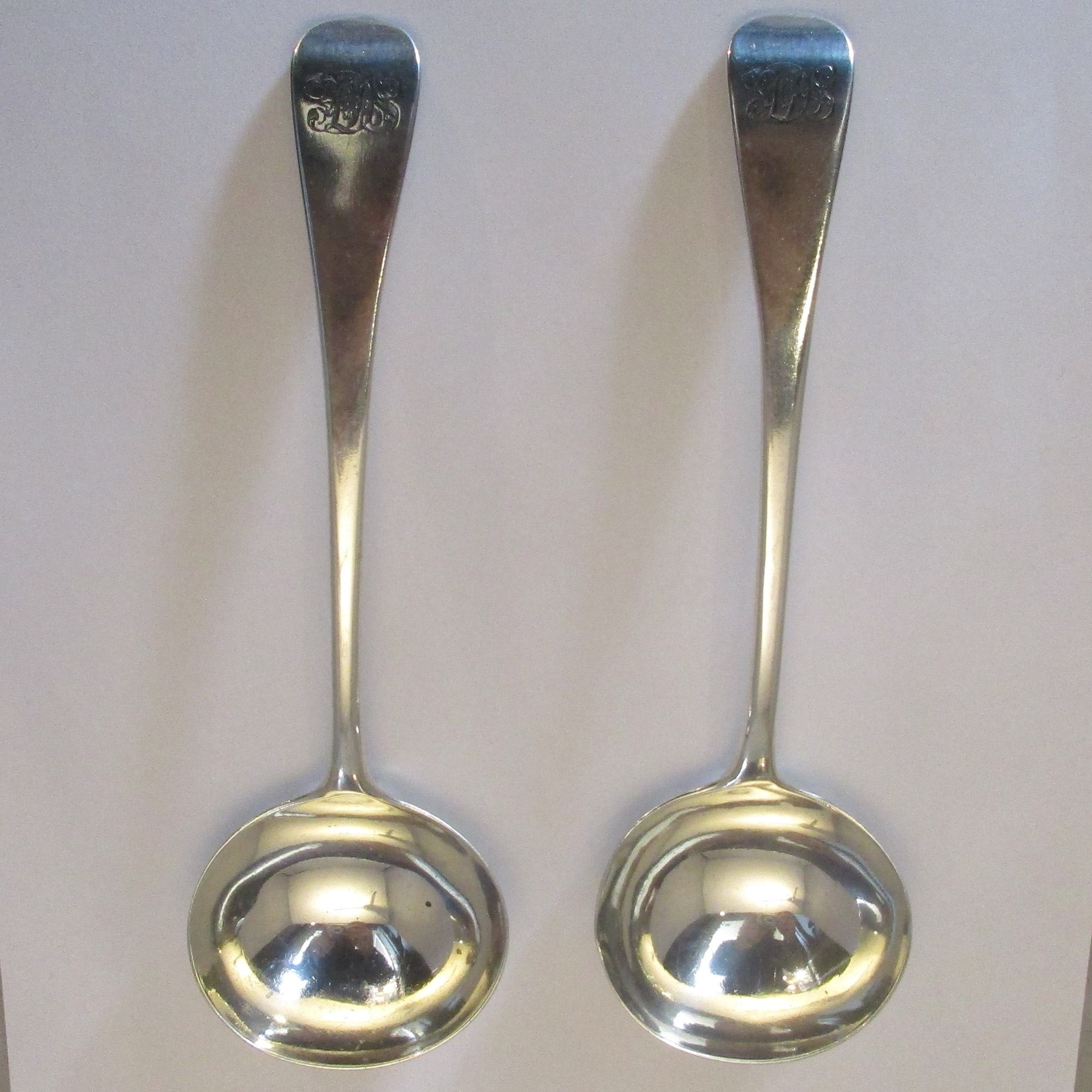 Sterling Silver Pair Of Ladles William IV By Mary Chawner Antique London 1836.