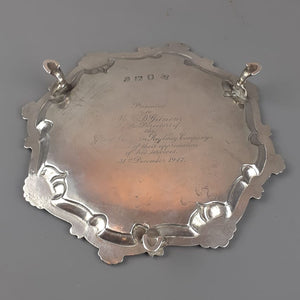 Sterling Silver Salver Antique Georgian 1764