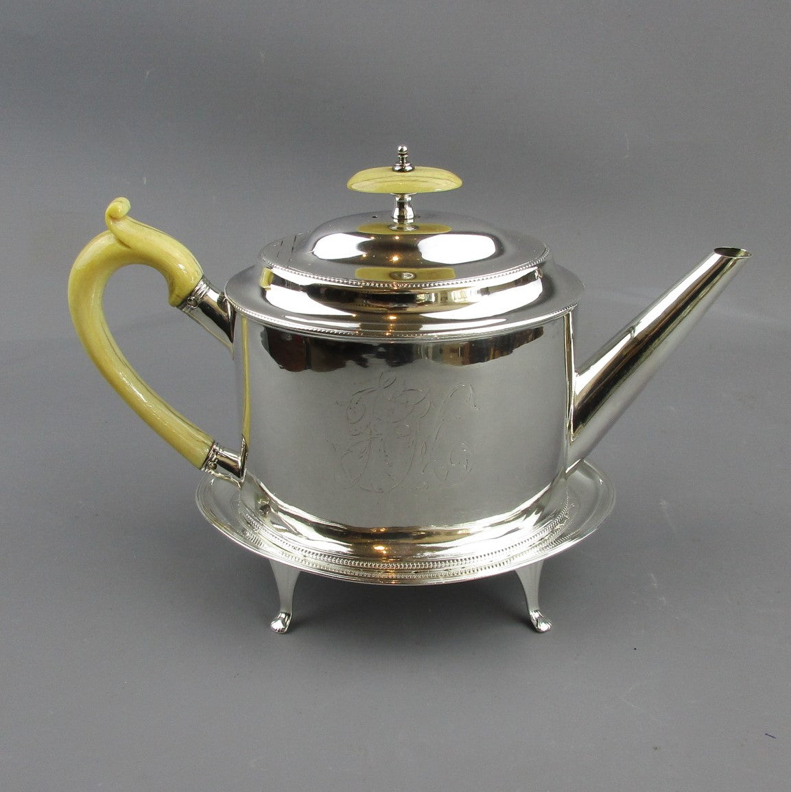 Sterling Silver Teapot With Stand Antique Georgian c1786