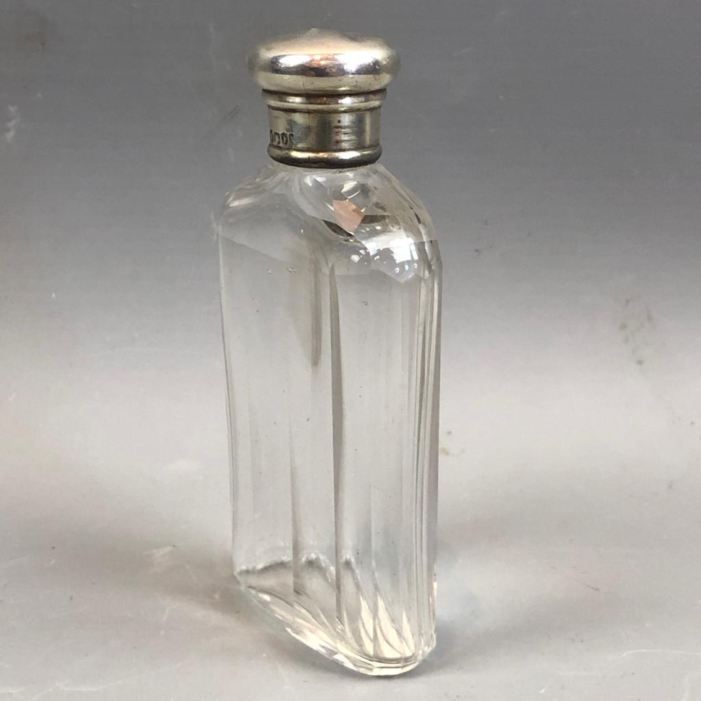 Sterling Silver Top Scent Bottle Antique London 1881