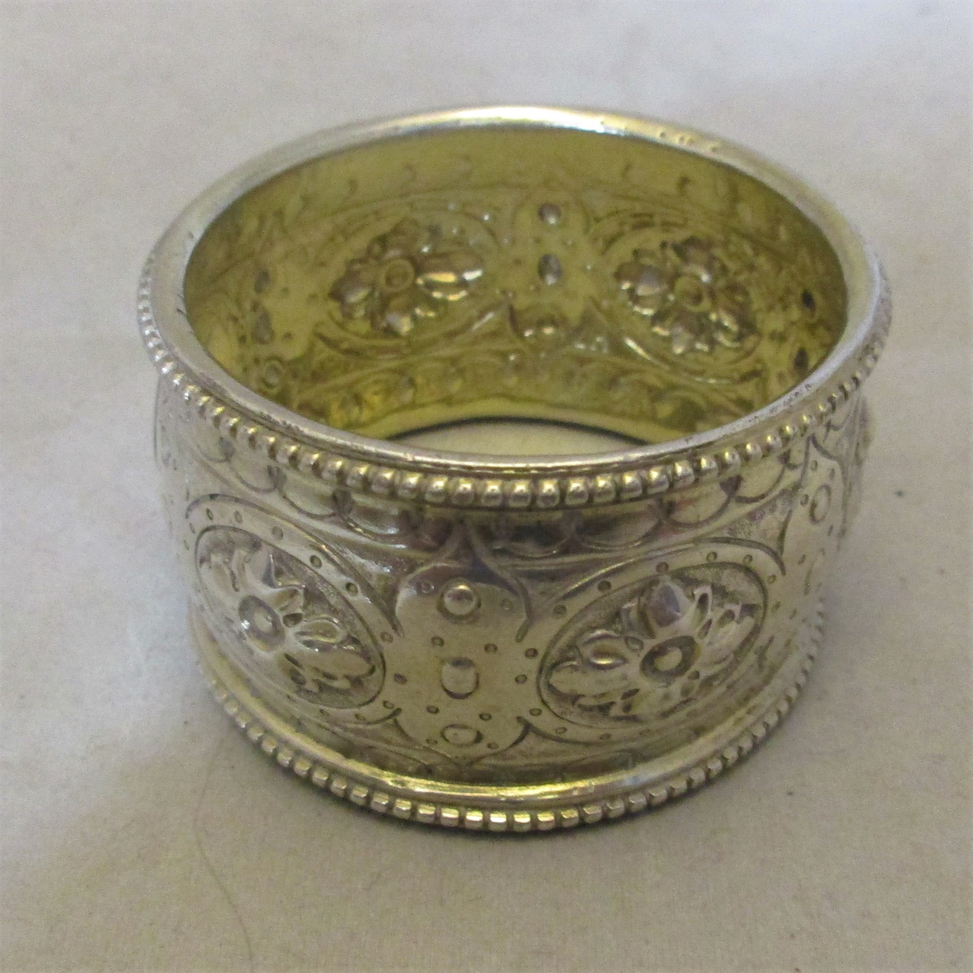Sterling Silver Napkin Holder Antique London 1871.