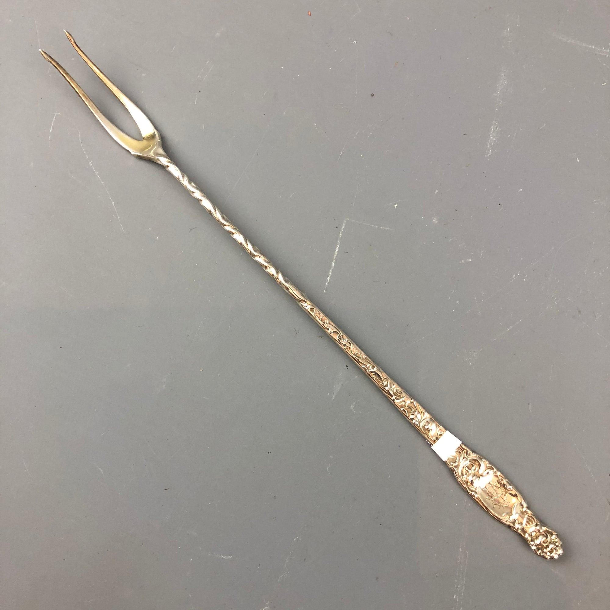 Sterling-Silver-Pickle-Fork-Art-Deco-Vintage-c1930