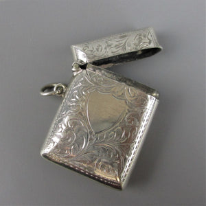 Sterling Silver Vesta Case Birmingham Antique c1902