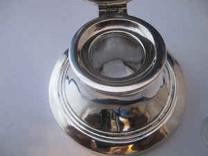 Sterling Silver Inkwell Antique Birmingham 1915.