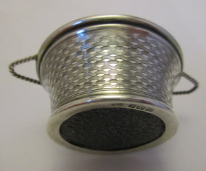Sterling Silver Pin Cushion Basket Birmingham c1911.