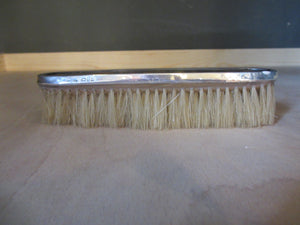 Sterling Silver & Tortoise Shell Brush Antique Edwardian Chester 1908.