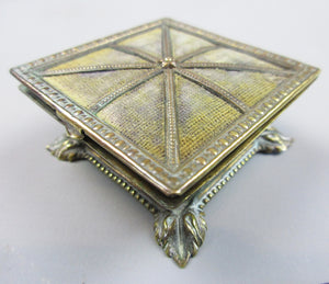 Antique Queen's Foot Stool Trinket Box c1880