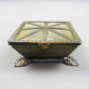 Novelty Queen's Footstool Trinket Box Antique c1880