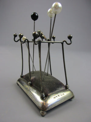 Sterling Silver Stick Stand Pin Holder Vintage c1943
