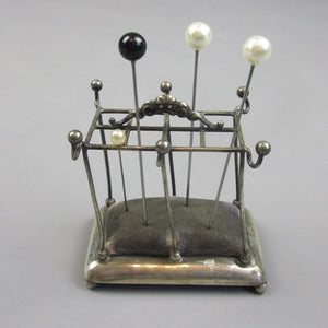 Novelty Sterling Silver Pin cushion Vintage c1943