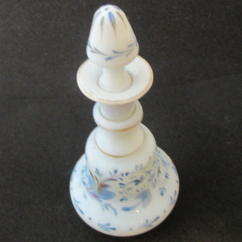 Blue Opalescent Scent Bottle Antique Victorian.