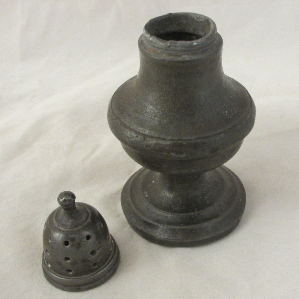 Pewter Pepper Pot Antique 19th Century.