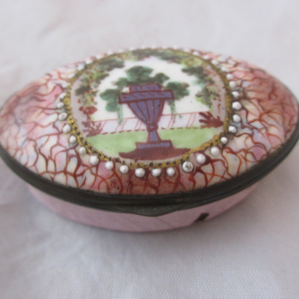 Enamel Patch Box Antique Georgian C1790.